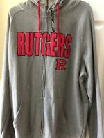 NWT RUTGERS SCARLET KNIGHTS CAMPUS HERITAGE COLLECTION - ZIP UP HOODIE SIZE XL