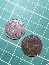 Hong Kong Cent - 1903 And 1905 - 2 Coins!