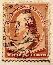 US STAMP 1883 Washington 2 Cent Brown Scott #210 VF