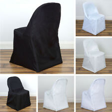 25 pcs POLYESTER ROUND FOLDING CHAIR COVERS Wedding Catering Party Supplies SALE