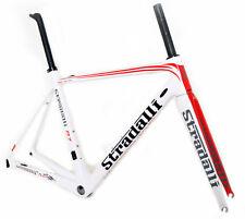 STRADALLI R7 CARBON FIBER ROAD BIKE BICYCLE FRAME FRAMESET WHITE 54CM MEDIUM M