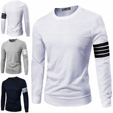 Unbranded Men's Crew Neck Long Sleeve Regular Casual Shirts & Tops