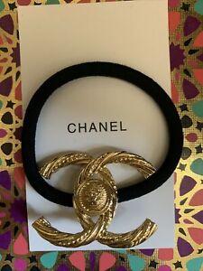 CC VIP Beauty Gift Gold Metal Black Hair Tie