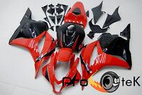 For 2009-2012 Honda CBR600RR Red Black Injection ABS Plastic Fairings Bodywork
