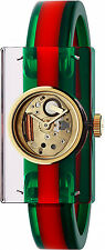 New Gucci Fashion Show Skeleton Dial Ladies Bangle Watch YA143501