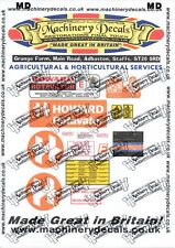 HOWARD TRACTOR MOUNTED ROTAVATOR DECAL SET