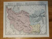 Antique Persia and Afghanistan (Iraq and Iran) Map 1899 Atlas multicolored