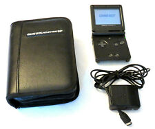 Pre-owned Nintendo Game Boy Advance SP Graphite Handheld System w/charger & case