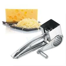 Safety Multi Purpose Stainless Steel Rotary Cheese Grater Shred Kitchen Utensils