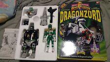 Mighty Morphin Power Rangers MMPR Dragonzord + Green Ranger ELECTRONICS WORK