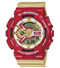 Casio G Shock * GA110CS-4A Ironman Gold & Red XL Anadigi GShock Watch COD PayPal