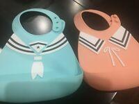 Silicone Baby Bibs Easily Wipe Clean - Comfortable Soft Waterproof Bib Toddlers