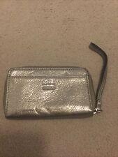 BN metallic bronze leather COACH wallet 5 slots wristlet