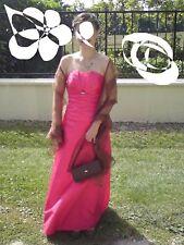 robe cocktail de soirée ceremonie pronuptia framboise taille 36
