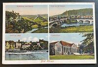AK BAD KÖSEN Mehrbildkarte Rudelsburg und Saaleck, Partie an der Brücke 1942