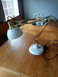 ANGLEPOISE DESK LAMP STUNNING BRASS/COPPER/WHITE WOW