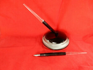 Esterbrook Fountain Pen LOT, Nibs, Dip-Less Clear Lucite Fountain InkWell No 444