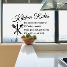 Kitchen Rules Restaurant Wall Sticker Decal Mural DIY Home Decor Art ZY