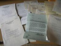 12 Vintage Letters from Maryland Senators and Mayor & 10 Franked Envelopes