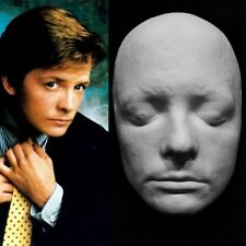 "Michael J. Fox Life Mask Life Cast in Hydrocal Plaster ""Back to the Future"" !!!"