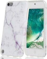 For iPod Touch 5th 6th & 7th Gen - Hard TPU Rubber Case Cover White Marble Stone