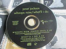 Janet Jackson – Whoops Now / What I'll Do Virgin – VSCDJ 1533 Promo CD Single