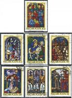 Ungarn 2817A-2823A (kompl.Ausg.) gestempelt 1972 Glasmalereien
