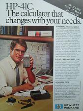 10/1980 PUB HP HEWLETT PACKARD HP CALCULATOR HP-41C CALCULATRICE ORIGINAL AD