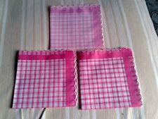 Tre fazzoletti donna nuovi cotone stampato vintage 1970-Handkerchief-Mouchoir