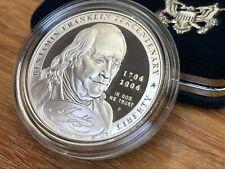 2006 P Benjamin Franklin Tercentenary Commemorative Coin Proof Silver Dollar