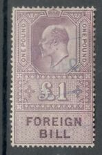 Edward VII - £1 Lilac - Foreign Bill - Used -