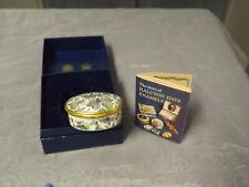 Halcyon Days Enamels Adriana Lecouvreur Violets Opera Flowers Enamel Box