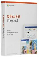 Brand New Microsoft Office 365 Personal 12 Month Subscription PC Mac QQ-200728