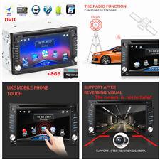 HD Vedio 2 Din GPS Navi Bluetooth Car In-Dash FM Radio DVD SD USB+8GB Map Card
