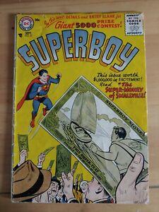 ⭐️ SUPERBOY #51 (1956 DC Comics) LOW GRADE Book