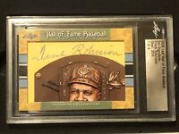 2020 Leaf Signature Cuts Frank Robinson 1/4 *Very Rare* Autograph Card Slabbed