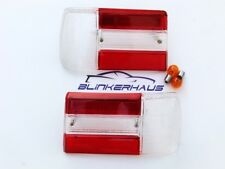 BMW 02 E10 1602 1802 2002 ti tii turbo Baur Alpina Red Clear Tail Lights Lenses
