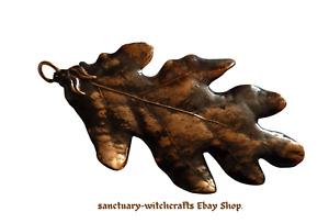 Vintage Copper Dipped Real Oak Leaf Pendant. Pagan /Wiccan/ Druid.