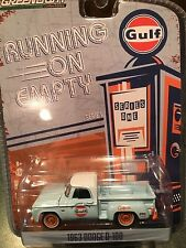 Greenlight Running On Empty 1963 Dodge D-100 Pickup.  GULF PRIDE OIL