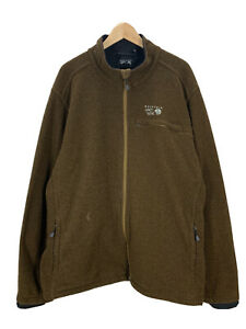 Men's Mountain Hardwear Brown Soft Shell Jacket XXL