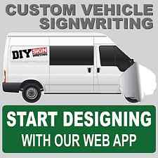 CUSTOM VEHICLE SIGNWRITING VAN CAR KIT SIGN WRITING DECALS LETTERING STICKERS