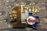 Texas Rangers baseball #1 Fan pin badge