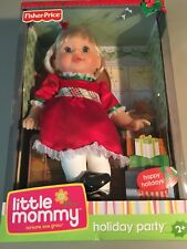 Fisher Price Little Mommy Holiday Party Christmas Dress Doll **NEW**