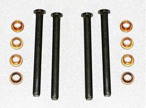 NEW! 1965 - 1973 Mustang Door Hinge Repair Rebuild Kit, Pins, Bushings 12 pc set