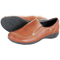 RRP £89 PIKOLINOS WOMENS LADIES SLIP ON FLAT TAN CUERO LEATHER SHOES  UK 4, 7
