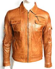 Compton Mens Black Hooded Casual Retro Classic Stylish Rock 100 Leather Jacket 48 XXXL