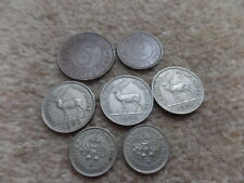 Rare Old Collection British Empire Mauritius  King George VI   7x Coins  19-28mm