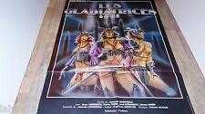 LES GLADIATRICES   !    affiche cinema bd dessin barbare