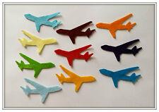 Felt Planes Shapes (10), Die Cut aeroplane, Mixed Colours, Craft Embellishments