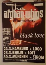 Afghan Whigs Black Love tour Throneberry Original Concert  poster